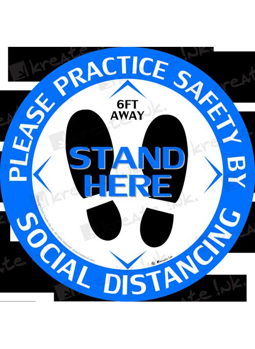 Social Distancing Floor Graphics Standard