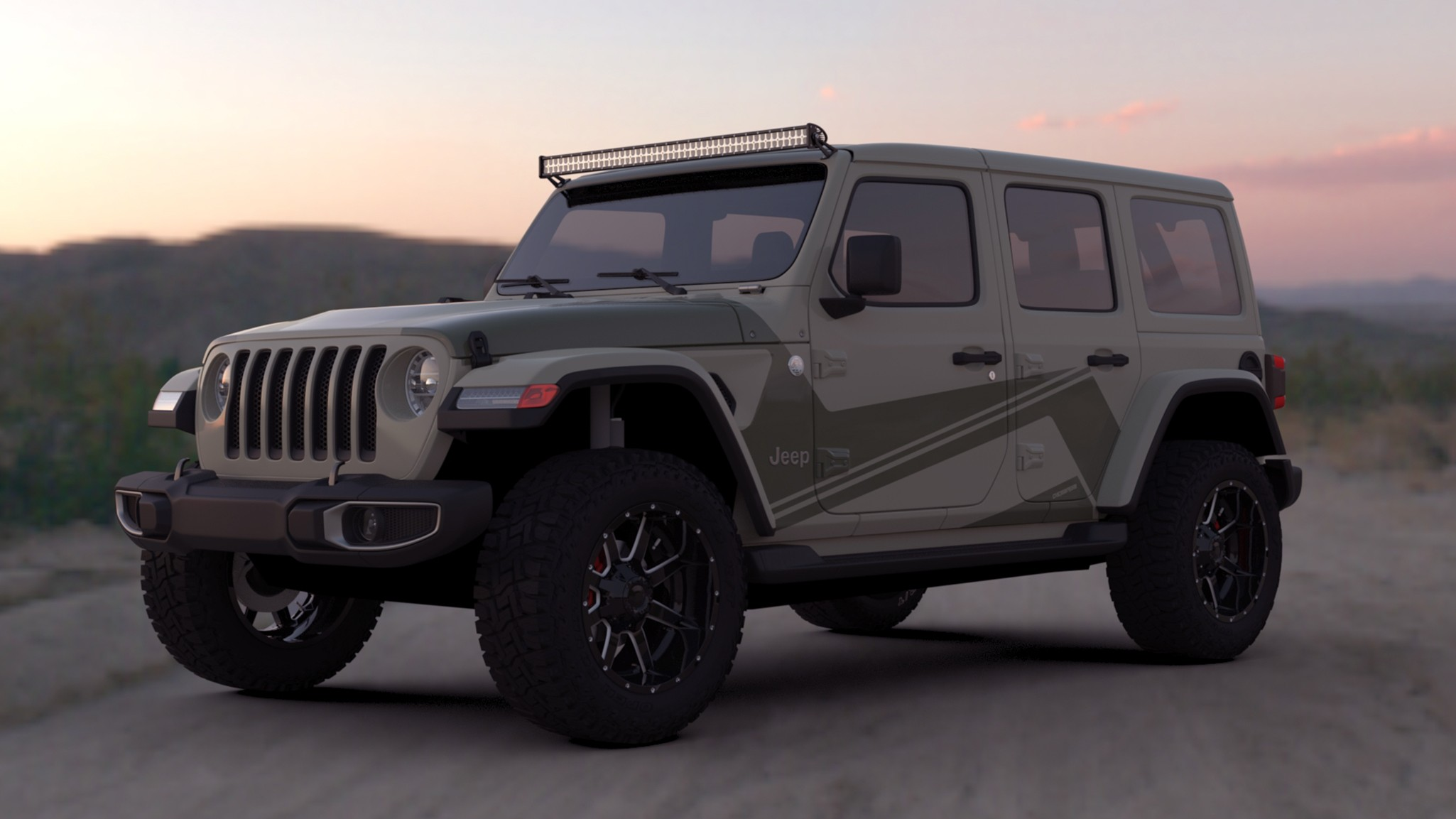Disperse the new line of Jeep Wrangler Graphics from Raceskinz®